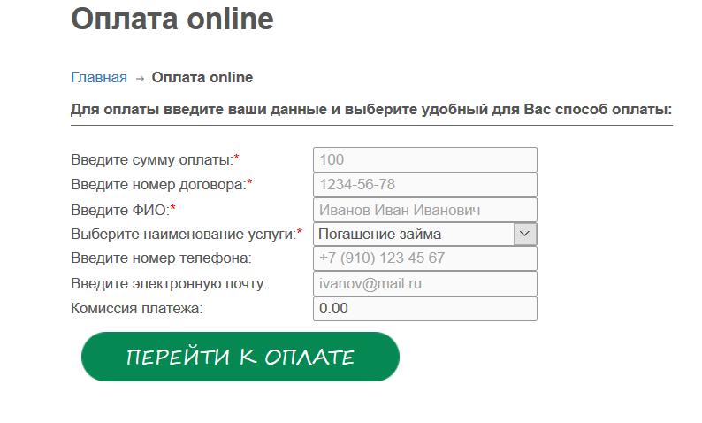 микрокредит на номер телефона